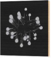 Light Tubes Wood Print