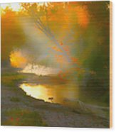 Light Up The Creek Wood Print