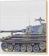 Light Weight Battle Tank Wood Print