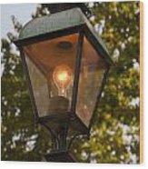 Lighted Street Lamppost Wood Print