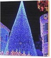 Lighted Xmas Tree Walt Disney World Wood Print