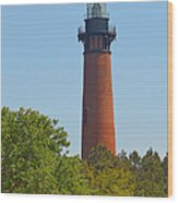 Lighthouse At Corolla N C Wood Print