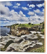 Lighthouse At Watson Bay Wood Print