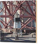Lighthouse Atop Fort Point Next To The San Francisco Golden Gate Bridge - 5d19001 Wood Print