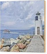Lighthouse Camogli Wood Print