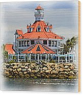 Lighthouse Charm Wood Print
