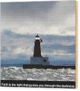 Lighthouse Faith Wood Print