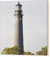 Lighthouse From A Distance Wood Print