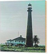 Lighthouse Galveston Wood Print