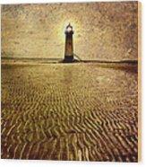 Lighthouse Grunge Wood Print