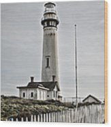 Lighthouse Wood Print by Heather Applegate