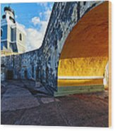 Lighthouse In Fort El Morro Wood Print