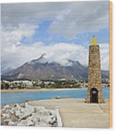 Lighthouse On Costa Del Sol In Spain Wood Print