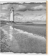 Lighthouse Reflected Wood Print