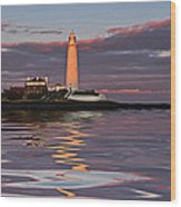 Lighthouse Reflection Wood Print