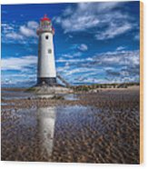 Lighthouse Reflections Wood Print