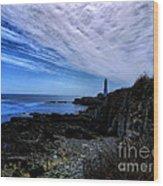 Lighthouse Sky Wood Print