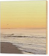 Lighthouse Sunrise Wood Print