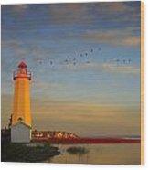 Lighthouse, Sylvan Lake, Alberta, Canada Wood Print