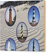 Lighthouses Of The Outer Banks Wood Print