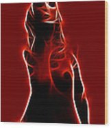 Lighting Woman Wood Print