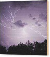 Lightning Burst Wood Print