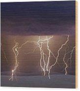 Lightning Dance Wood Print