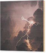 Lightning Man Wood Print
