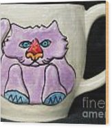 Lightning Nose Kitty Mug Wood Print