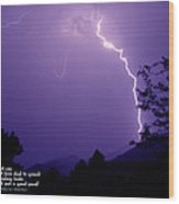 Lightning Over The Rogue Valley Wood Print