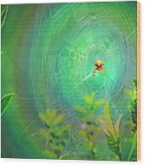 Lightning Spider Wood Print