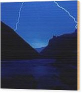 Lightning Strike, Grand Canyon Wood Print