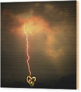 Lightning Strikes The Heart Wood Print