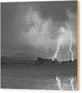 Lightning Striking Longs Peak Foothills 8cbw Wood Print by James BO  Insogna