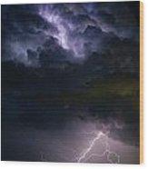 Lightning Thunderhead Storm Rumble Wood Print
