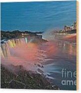 Lights On Niagara Wood Print