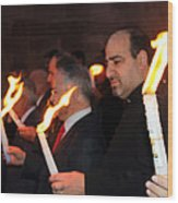 Lights Parade In Beit Jala Wood Print