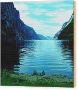 Ligth Fjord Norway Wood Print