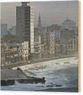 Like A Reef Built On Havanas Shore Wood Print by James L. Stanfield