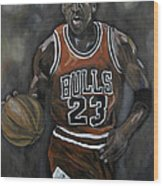 Like Mike Wood Print by Brad Coleman