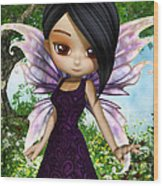 Lil Fairy Princess Wood Print
