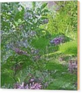 Lilac In The Air Wood Print