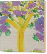 Lilac Lavender Tree Wood Print