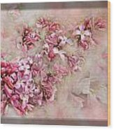 Lilacs And Wegia Wood Print