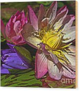 Lilies No. 20 Wood Print by Anne Klar