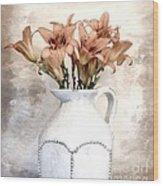 Lilies Pitcher Wood Print