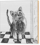 Lillie By The Door Wood Print