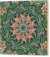 Lilly In Abstract Wood Print