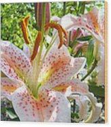 Lily Flowers Floral Prints Photography Orange Lilies Wood Print