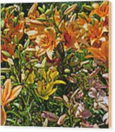 Lily Garden Bouquet  Wood Print